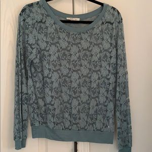 Delicate lace forever 21 longsleeve shirt